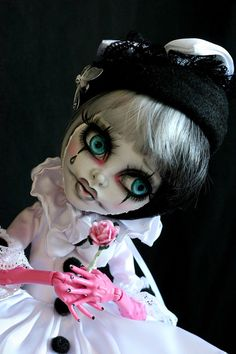 "OOAK Custom Monster High 17"" Art Doll Gooliope Jellington Repaint by Alicesun 