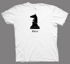 Welcome to our store! This is an Adult Unisex T-shirt. SIZE DIMENSIONS IN INCHES S size dimensions in inches (width x length): 18 x 28 M size dimensions in inches (width x length): 20 x 29 L size dimensions in inches (width x length): 22 x. Knight Chess, The Ordinary, Cotton Tee, Nerdy, Christmas Gifts, Geek Stuff, Unisex, Store, Tees