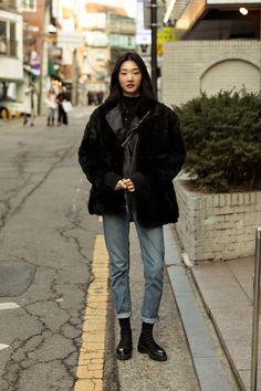 Asian Street Style, Korean Street Fashion, Asian Fashion, Look Fashion, Winter Fashion, Korean Winter Outfits, Korean Outfits, Mode Outfits, Casual Outfits