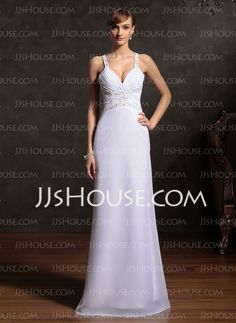Holiday Dresses - $136.99 - Sheath Sweetheart Floor-Length Chiffon Holiday Dress With Ruffle Beading (020015086) http://jjshouse.com/Sheath-Sweetheart-Floor-Length-Chiffon-Holiday-Dress-With-Ruffle-Beading-020015086-g15086