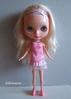 HANDMADE DOLL CLOTHES for BLYTHE dolls DRESS HAIRBAND JEWELRY Blybe Basaak Icy $15.00 on eBay - by DOLLS4EMMA