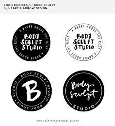 Round logo options // Barre Studio