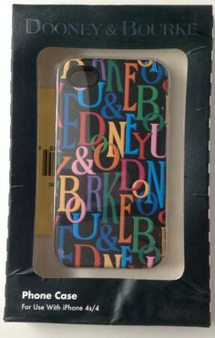 Dooney & Burke Iphone 4s / 4 Case Cover New Damaged Packaging Black With Letters