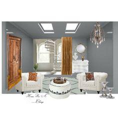 "Blend rustic & contemporary for your own ""unique"" design! #homeforachange #interiordesign"