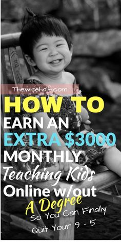 No degree? Like to talk to kids? Here's a perfect side hustle for you. Teach English to Kids and make money. Non-degree holders accepted. - Earn Money at home Earn Money From Home, Earn Money Online, Make Money Blogging, How To Make Money, Money Tips, Earning Money, Blogging Ideas, Money Fast, Teach English To Kids