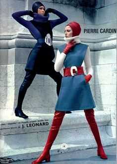 """Gonzo fashion! Pierre Cardin from 1968. (Been reading Hunter S. Thompson, thus the """"gonzo"""")."""