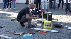 Incredible street drummer in Rome (Dario Rossi)
