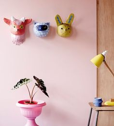 Beci Orpin DIY paper mache masks