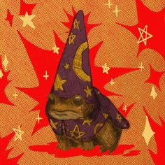 Your a wizard, Harry Arte Peculiar, Arte Sketchbook, Frog Art, Illustration Art, Illustrations, Cute Frogs, Hippie Art, Psychedelic Art, Aesthetic Art