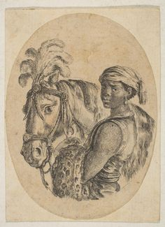 Black Slave Holds Bridle of a Horse Etched by Stefano della Bella (Italian, Florence Florence) Publisher: Published by Israël Henriet (French, Nancy ca. Paris) Date: Horse Head, Horse Art, Vintage Wall Art, Vintage Walls, Two Horses, Grisaille, Equine Art, Historical Maps, Black Art