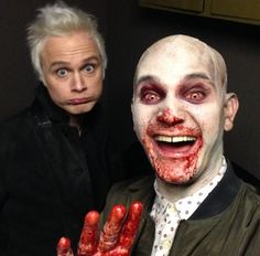 David and Bryce behind the scenes of iZombie