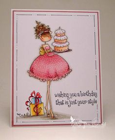 <3 Stamping Bella Uptown Girl Ava looks phenomenal on this card by TracyMac