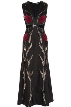 Shop on-sale Alexander McQueen Embellished satin-crepe gown. Browse other discount designer Dresses & more on The Most Fashionable Fashion Outlet, THE OUTNET. Black Satin Dress, Satin Gown, Metallic Dress, Satin Dresses, Metallic Evening Dresses, Long Black Evening Dress, Evening Gowns, Dress Long, Fancy Dress