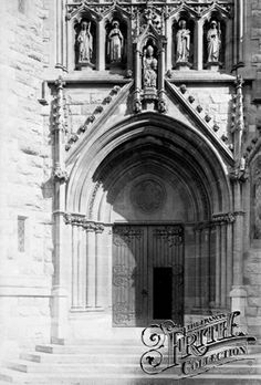 Old photo of St Denis Porch And Priory 1894, St Marychurch