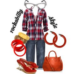 """get the look - rockabilly style"" by onceuponanovel on Polyvore"