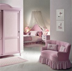 Pink Princess Room - Pink Couch Design
