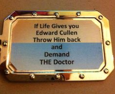 I've read Twilight, and I have come to the conclusion that THIS is the proper response to it. The Doctor is THE best... <3