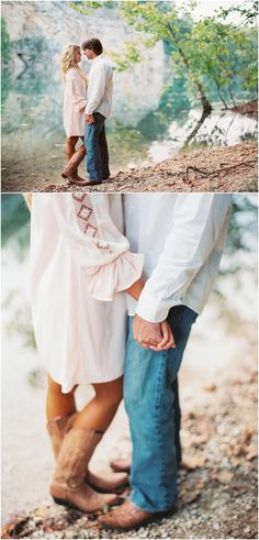 Engagement pictures by the lake in Knoxville TN - click to view more!
