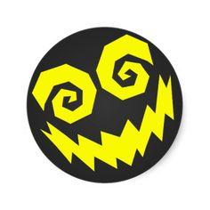 NALGames Insane In The Face Black + Yellow Round Stickers