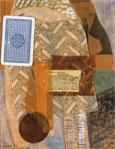 Kurt Schwitters, 'Collage with playing card',1940, Oil , paper and cardboard on card, 27.2 x 21.6 cms (10 3/4 x 8 1/2 ins).