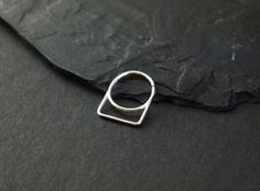 Septum Ring - geometry - sterling silver - piercing - unique piercing ring - by snakesninja - FREE US shipping
