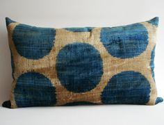 Sukan / SALE  Soft Hand Woven  Silk Velvet Ikat Pillow by sukan, $69.95
