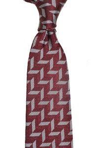 Chevron silk tie - Red