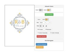 Use a free monogram generator to quickly create and customize a stylish monogram just for you or for your upcoming wedding.: Free Monogram Maker at Invys