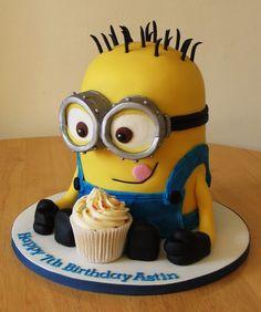 Minion cake - Dave.