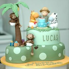 Jungle Safari birthday cake
