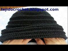 Como tejer un gorro en tejido crochet, tutorial paso a paso.