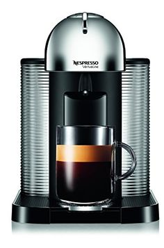 Nespresso AGCA1USCHNE VertuoLine Coffee and Espresso Maker with Aeroccino Plus Milk Frother Chrome * Read more  at the image link.Note:It is affiliate link to Amazon.