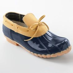 Duck shoes for the rain - usually LLBean