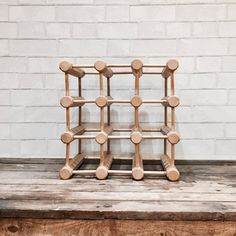 Rustic Wine Rack   Carved   Cube   Countertop   Tabletop   Blond Wood by PiccadillyPrairie on Etsy