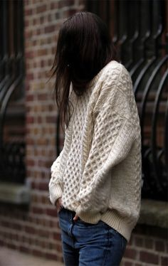 I'd love to have a nice big snuggly jumper like this.