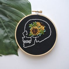 Ready To Ship 4 Embroidery Hoop Art // by RehabbedHandmadeShop