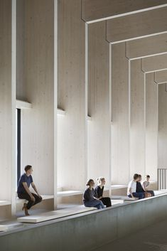 Interior Design Addict: British firm HawkinsBrown has completed a swimming-pool building at a school in Surrey, England, featuring an exposed timber frame that incorporates windows looking out onto the surrounding woodland. Detail Architecture, Timber Architecture, Public Architecture, Timber Buildings, Japanese Architecture, School Architecture, Office Buildings, Futuristic Architecture, Swimming Pool Architecture
