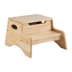 KidKraft Manufactured Wood N' Store Step Stool Finish: Childrens Step Stool, Bed Steps, Office Chair Without Wheels, Wood Burning Patterns, Mid Century Dining Chairs, Wood Plans, Wood Storage, Kid Beds, All Modern