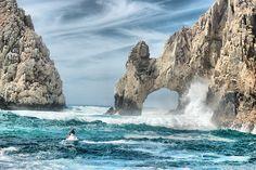Cabo Arch with Jetski