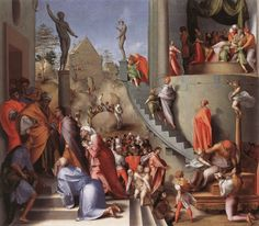 José con Jacob en Egipto   Pontormo   1518. https://deplatayexacto.files.wordpress.com/2011/03/josc3a9-con-jacob-en-egipto-pontormo-1518.jpg