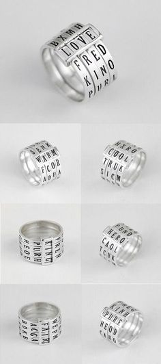 nice unique awesome  secret decoder band ring in sterling silver www.jewelsin.com/......