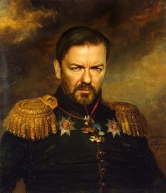 Ricky Gervais - replaceface Art Print :: so far, this one is the funniest to me