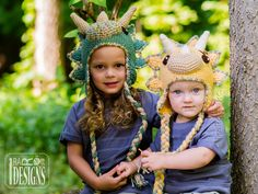Dino Dinosaur Triceratops Hat Crochet Pattern for Boys and Girls of all ages