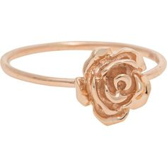 ART YOUTH SOCIETY Rose Rosegold // 14 ct rose gold ring ($365) ❤ liked on Polyvore featuring jewelry, rings, filigree jewelry, red gold jewelry, rose ring, rose gold rings and rose jewelry