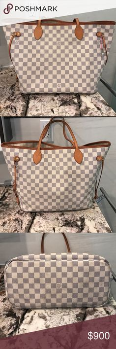 Louis Vuitton Neverfull Tote 100% authentic Louis Vuitton neverfull tote, medium size, some signs of wear overall good condition.  Interior needs a little cleaning ( will provide photos) handles have beautiful patina.  NO TRADES Louis Vuitton Bags Totes