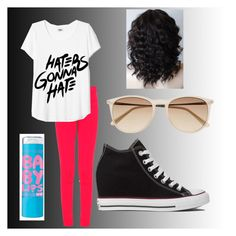 """Untitled #23"" by sbfreshwater ❤ liked on Polyvore featuring J Brand, Witchery, Converse and Maybelline"