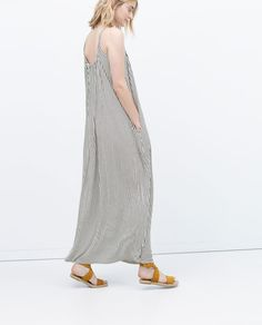 Image 3 of LONG STRIPED DRESS from Zara