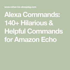 Amazon Echo Tips, Amazon Hacks, Funny Alexa Commands, Alexa Tricks, Amazon Alexa Skills, Iphone Information, What To Do When Bored, Powerpoint Tips, Computer Basics