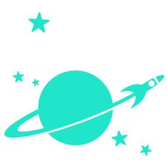 planets & rocket - NURSERY & KIDS ROOM DECOR | Nursery Wall Decals | Giant Kids Wall Stickers | Baby Wall Decals
