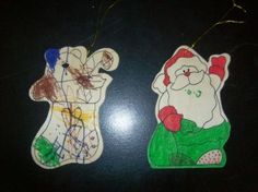 Wooden ornaments. Good for entertaining kids at a party!